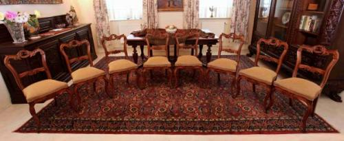 Chateau Chairs - solid walnut wood - 1850