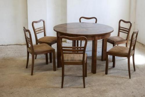 Dining Table and Chairs - 1920