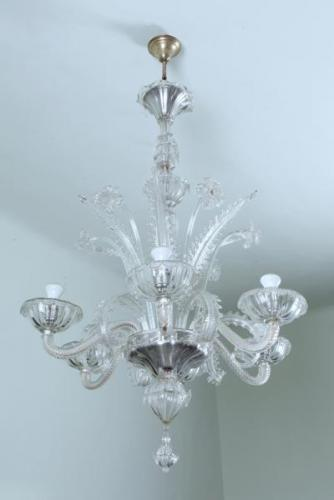 Six Light Chandelier - glass - 1947