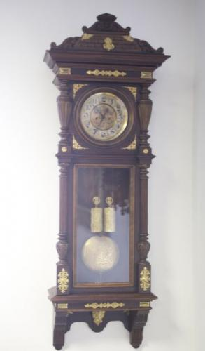 Wall Timepiece - bronze, wood - 1880