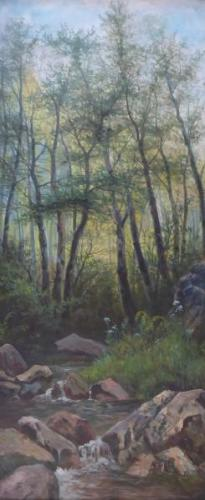 Bohumil Jaros - Creek in the forest