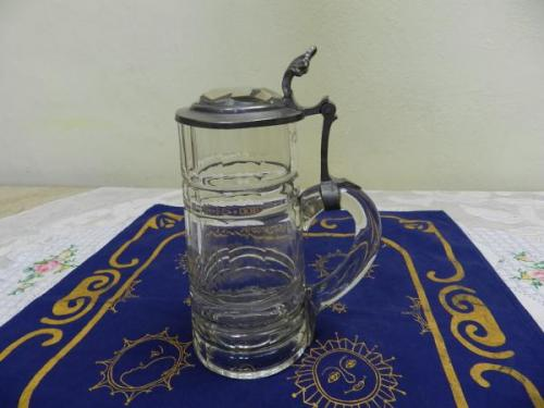 Glass Tankard - tin, crystal - 1880