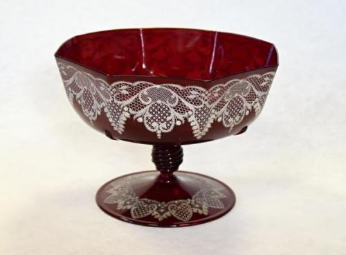 Glass Pedestal Bowl - glass - 1900