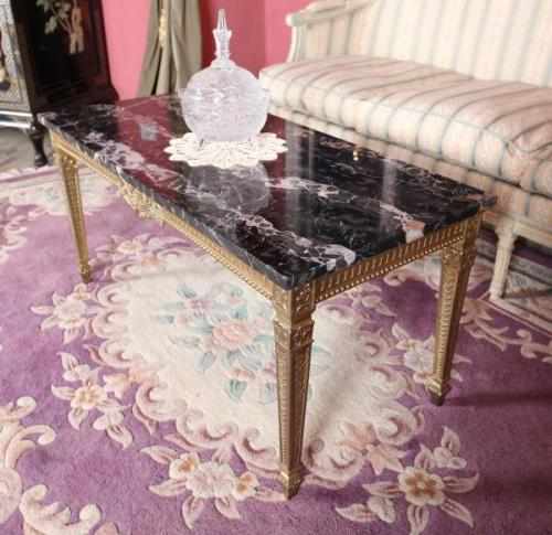 Coffee Table - brass, marble - 1950