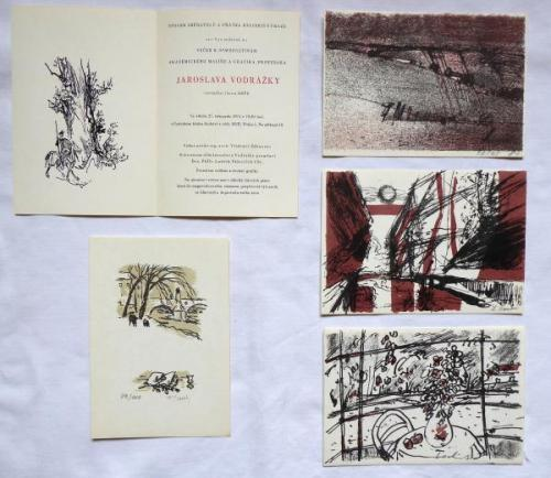 Four color lithographs, 1x zincography