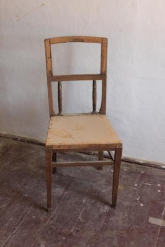 Chairs - solid beech, leather - 1910